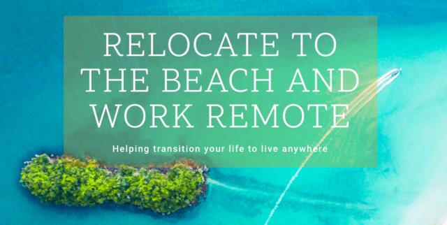 Déménager à distance de travail à la plage