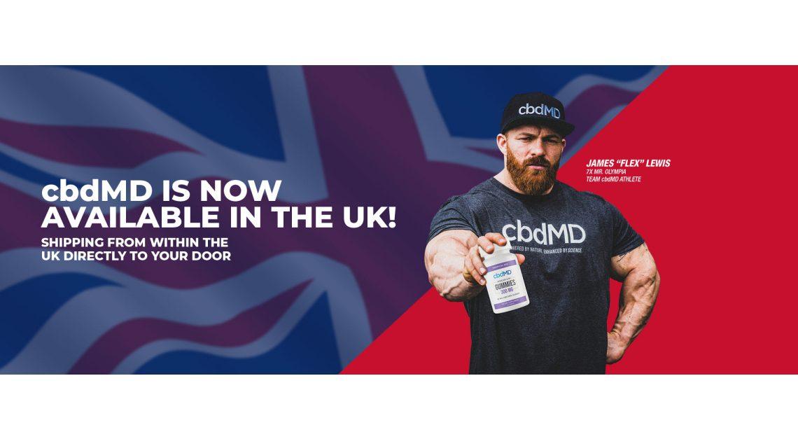 cbdMD accroît son empreinte directe auprès des consommateurs avec l'expansion au Royaume-Uni