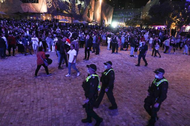 La police était sur les lieux.