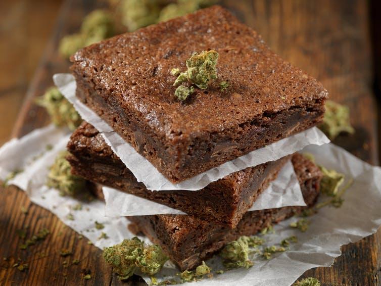 Des dizaines de produits alimentaires contenant de la marijuana ou du CBD sont sur le marché.