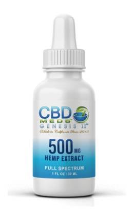 CBD Meds Genesis II - 500 mg d'extrait de chanvre