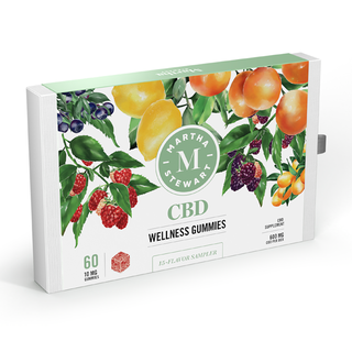 Échantillonneur d'arômes Martha Stewart CBD 15, Wellness Gummies