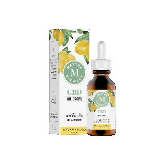 Gouttes d'huile de citron Martha Stewart CBD Meyer