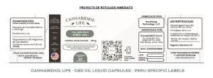 Sneak Peak sur les exigences d'étiquetage final pour les capsules de CBD de Cannabidiol Life au Pérou.