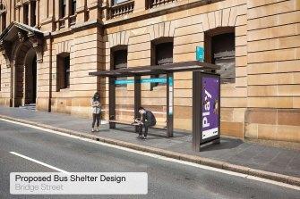 Les abribus proposés sont similaires à ce qui se trouve déjà dans les rues de Sydney.  Le conseil a décidé de ne pas les acheter au fournisseur de publicité historique JCDecaux.