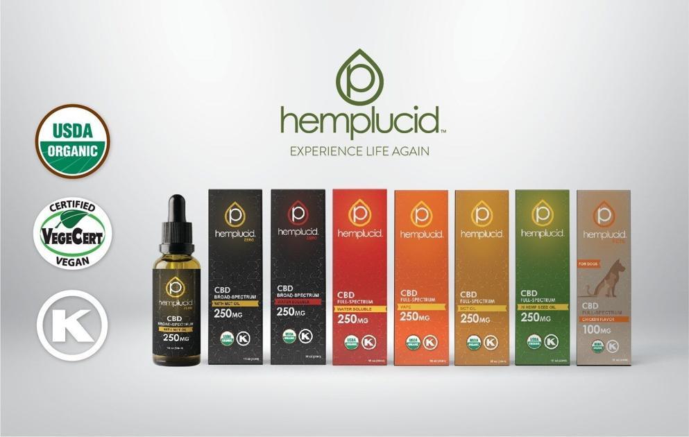 Hemplucid CBD obtient la certification biologique de l'USDA et lance de nouvelles gammes de produits |  Actualités régionales