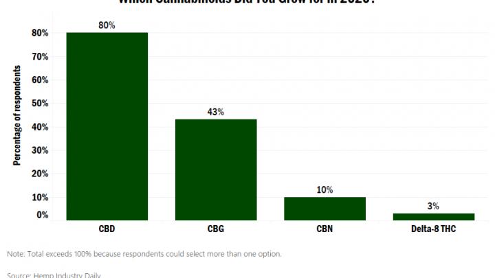 Malgré le buzz autour du delta-8 THC, la culture des cannabinoïdes dominée par le CBD, le CBG