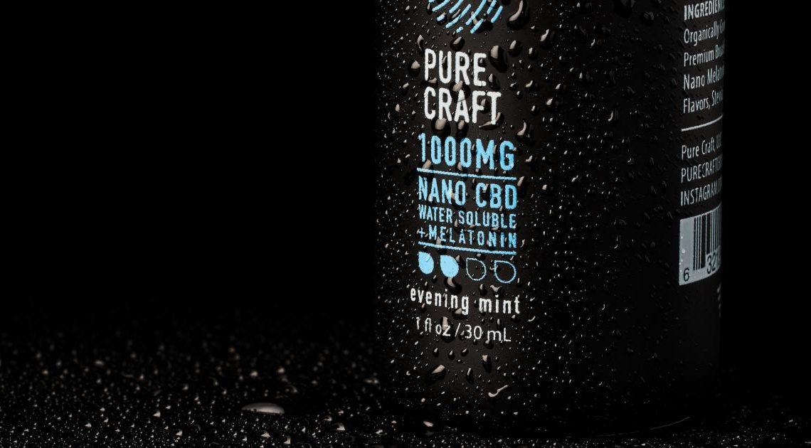 Pure Craft CBD présente la teinture de mélatonine soluble dans l'eau Nano CBD pour améliorer le sommeil