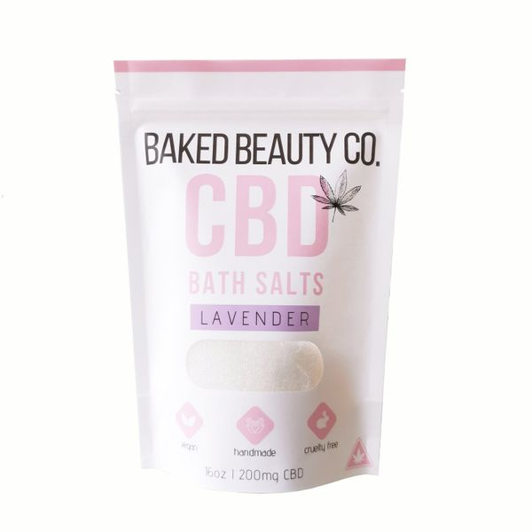 Baked Beauty Co. Sels de bain à la lavande, 200 mg