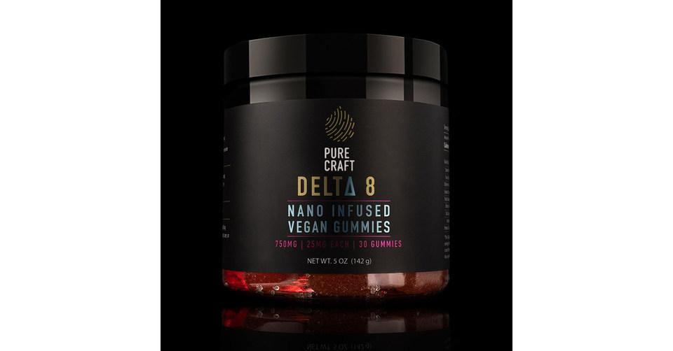 Pure Craft CBD lance des gélifiés végétaliens et nano-infusés de Delta-8 THC