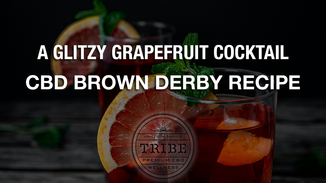 Un cocktail de pamplemousse scintillant – Recette de CBD Brown Derby