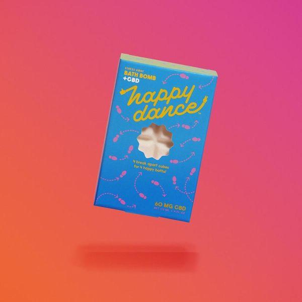 Bombe de bain CBD Happy Dance Stress Away, 60 mg
