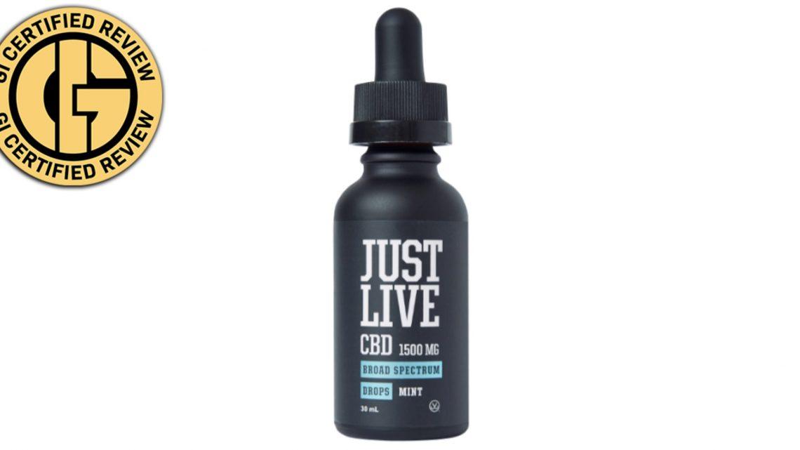 Examen des gouttes de menthe CBD à large spectre de 1 500 mg de Just Live