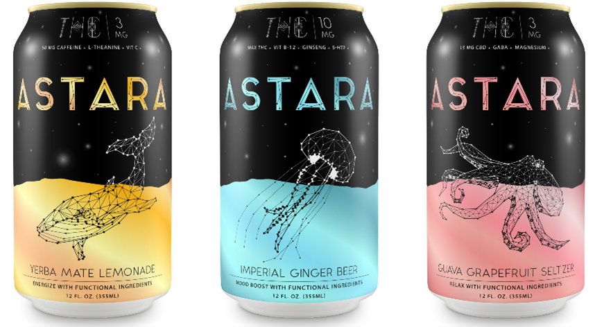 New Leaf Ventures présente les boissons infusées au THC et au CBD d'Astara
