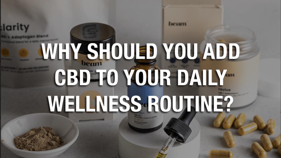 Pourquoi devriez-vous ajouter du CBD à votre routine quotidienne de bien-être ?