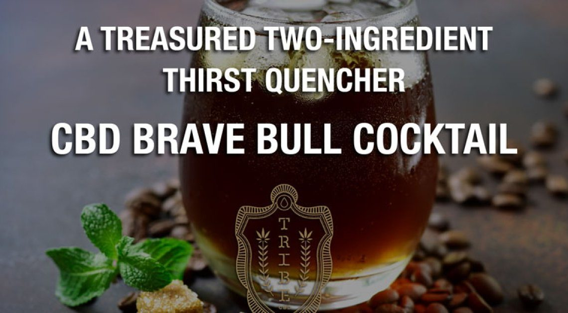 Un désaltérant précieux à deux ingrédients — Cocktail CBD Brave Bull