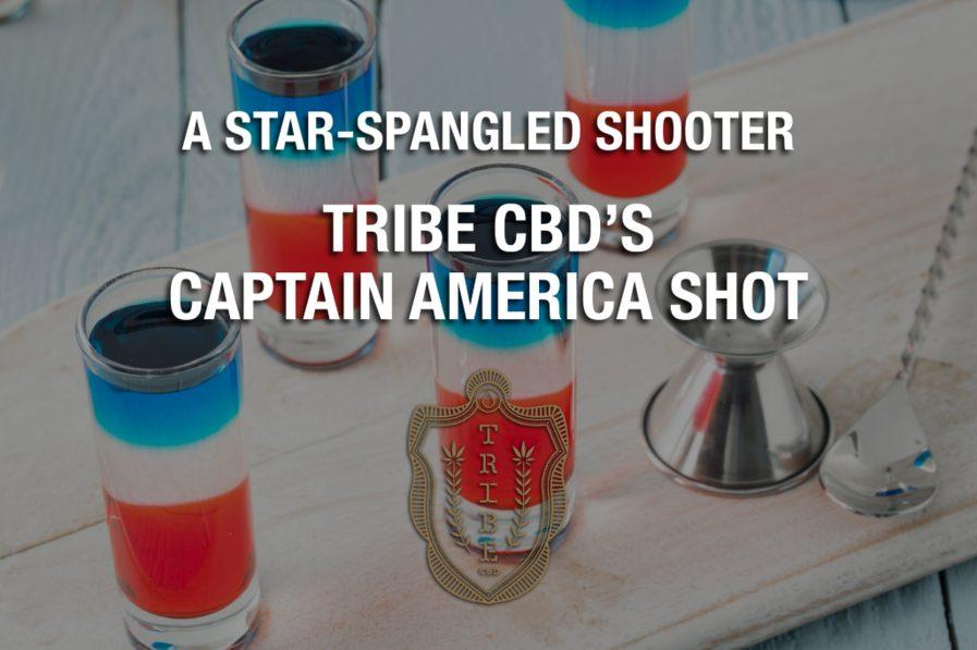 Un tireur étoilé – Captain America Shot de Tribe CBD