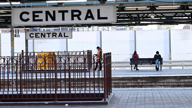 La gare centrale était presque vide.  Photo : Jeremy Piper / NCA NewsWire