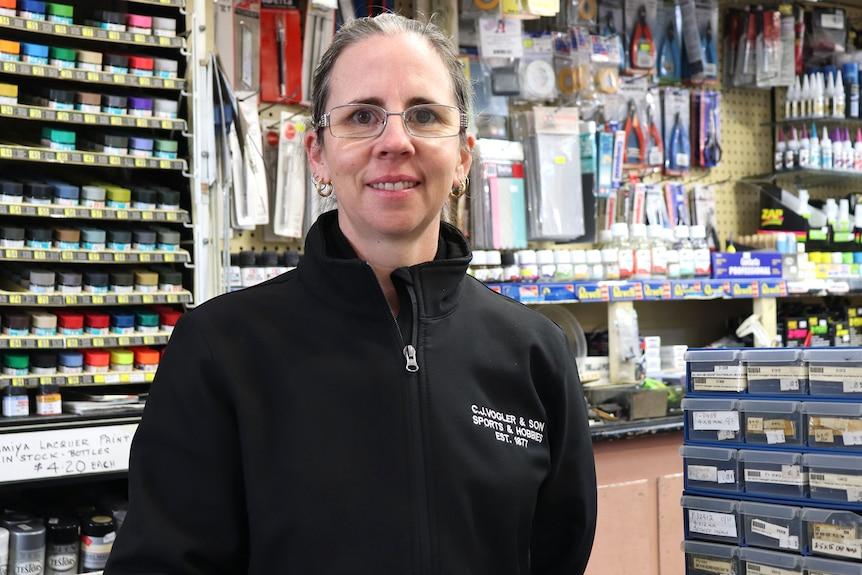 Gérante du magasin de loisirs Leigh-Anne Townsley