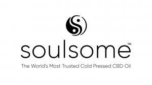 Logo de l'huile de CBD de fleur de chanvre crue à spectre complet pressée à froid Soulsome