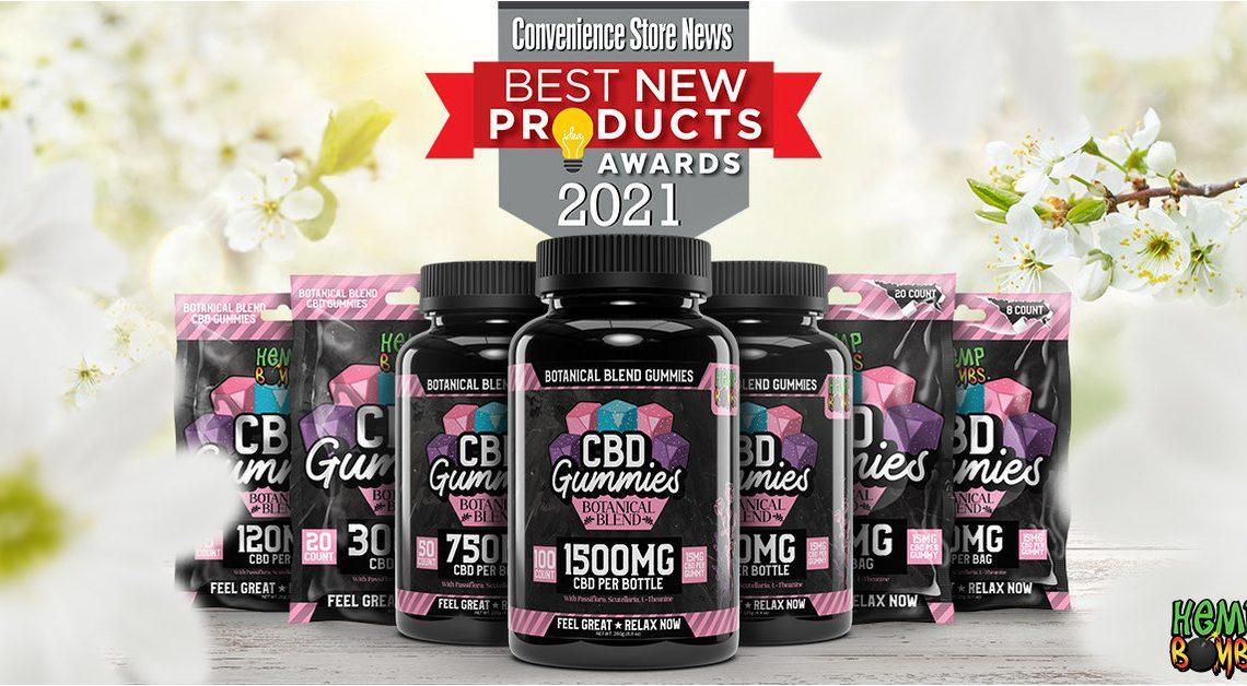 Les Gummies CBD au mélange botanique Hemp Bombs® de Global Widget nommés 2021 Convenience Store News Meilleur nouveau produit