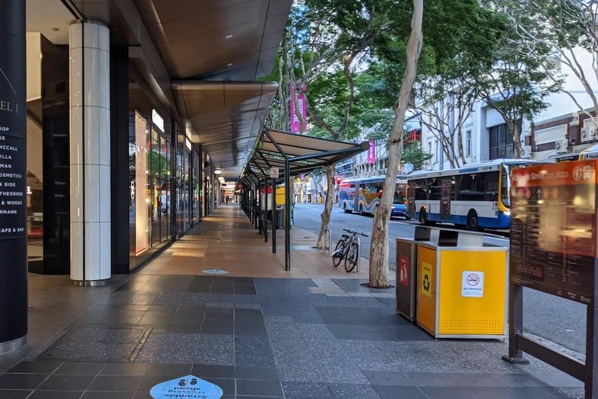 Adelaide Street à Brisbane pendant un verrouillage COVID