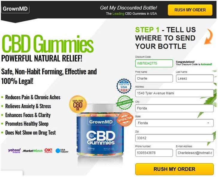 Avis sur GrownMD CBD Gummies {SHARK TANK 2021} Un avis honnête sur ce CBD Gummies