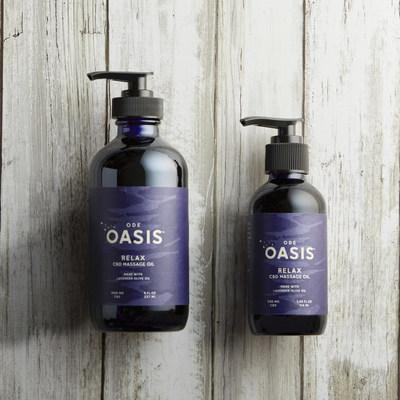 Huile de massage ODE Oasis RELAX CBD Lavande
